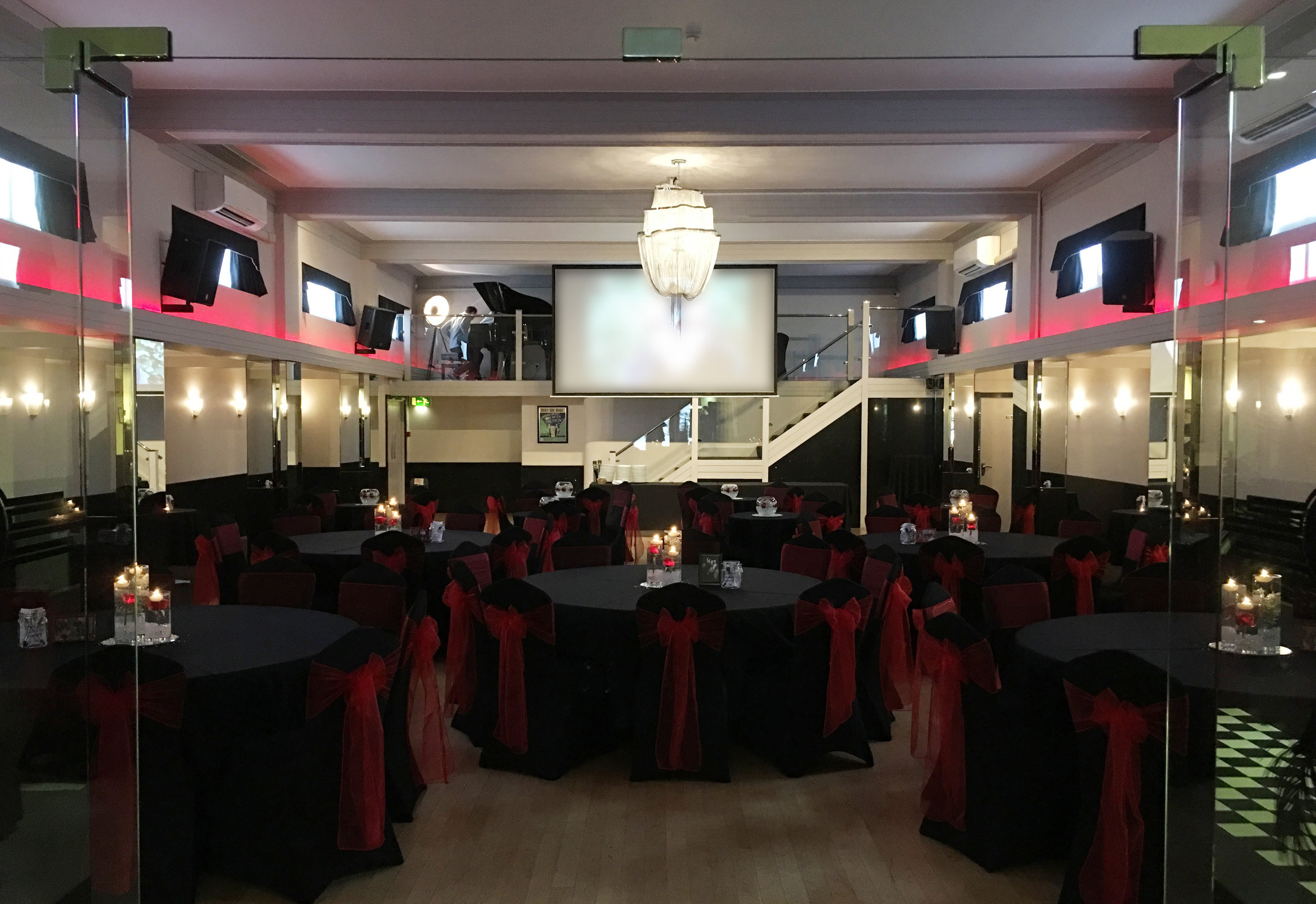Black and Red Themed Life Celebration at The Arlington Ballroom, Essex