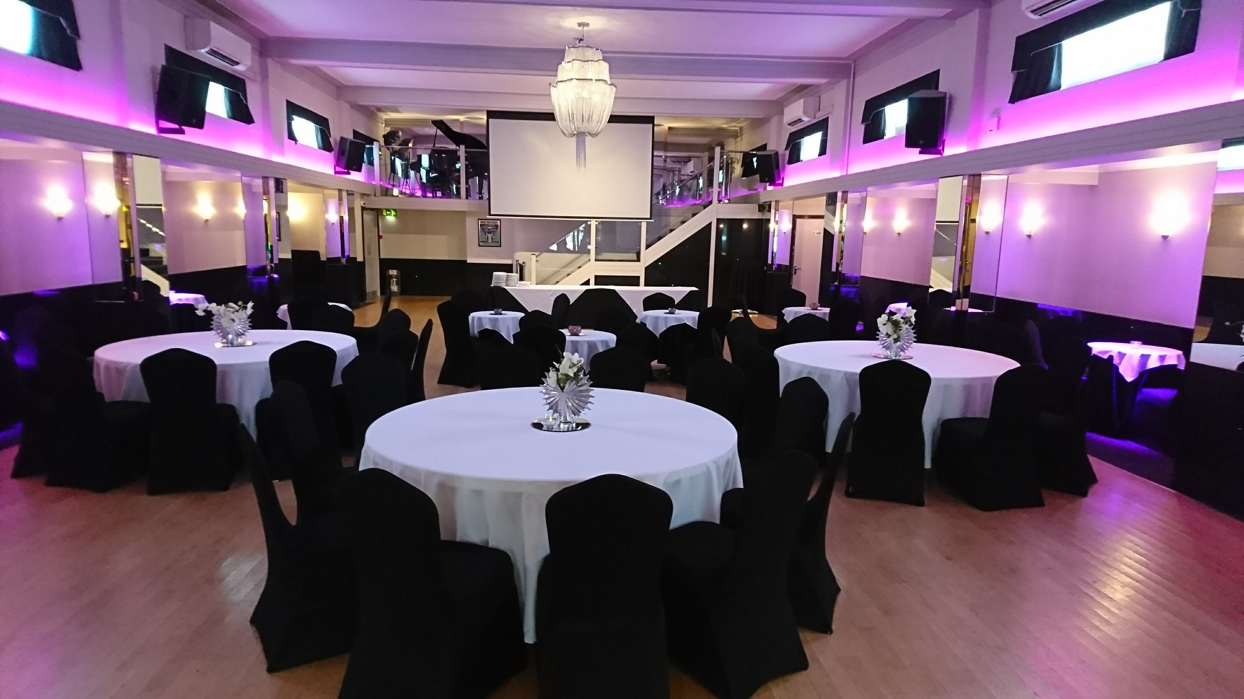 Pink and Black Themed Wake at The Arlington Ballroom Essex