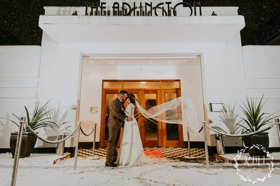 Andrea and Paul's snowy wedding in winter 2018.  Photos by RM1 Photography.