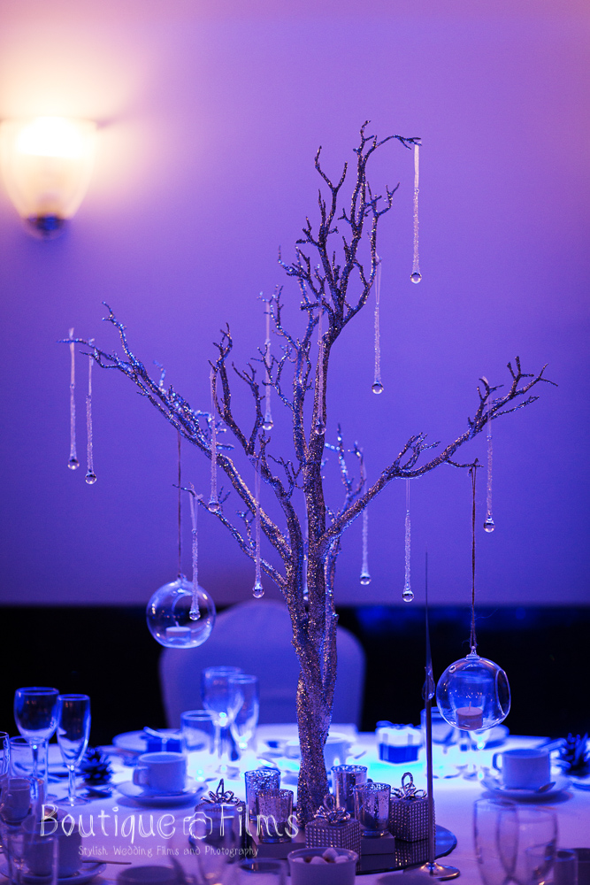 Winter Wedding Tree Table Decoration