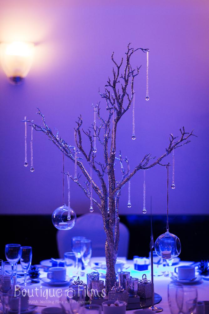 Winter Wedding Tree Table Decoration