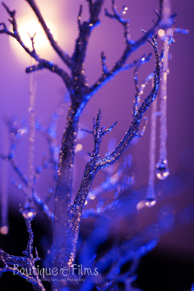 Winter Wedding Tree with Glass Baubles