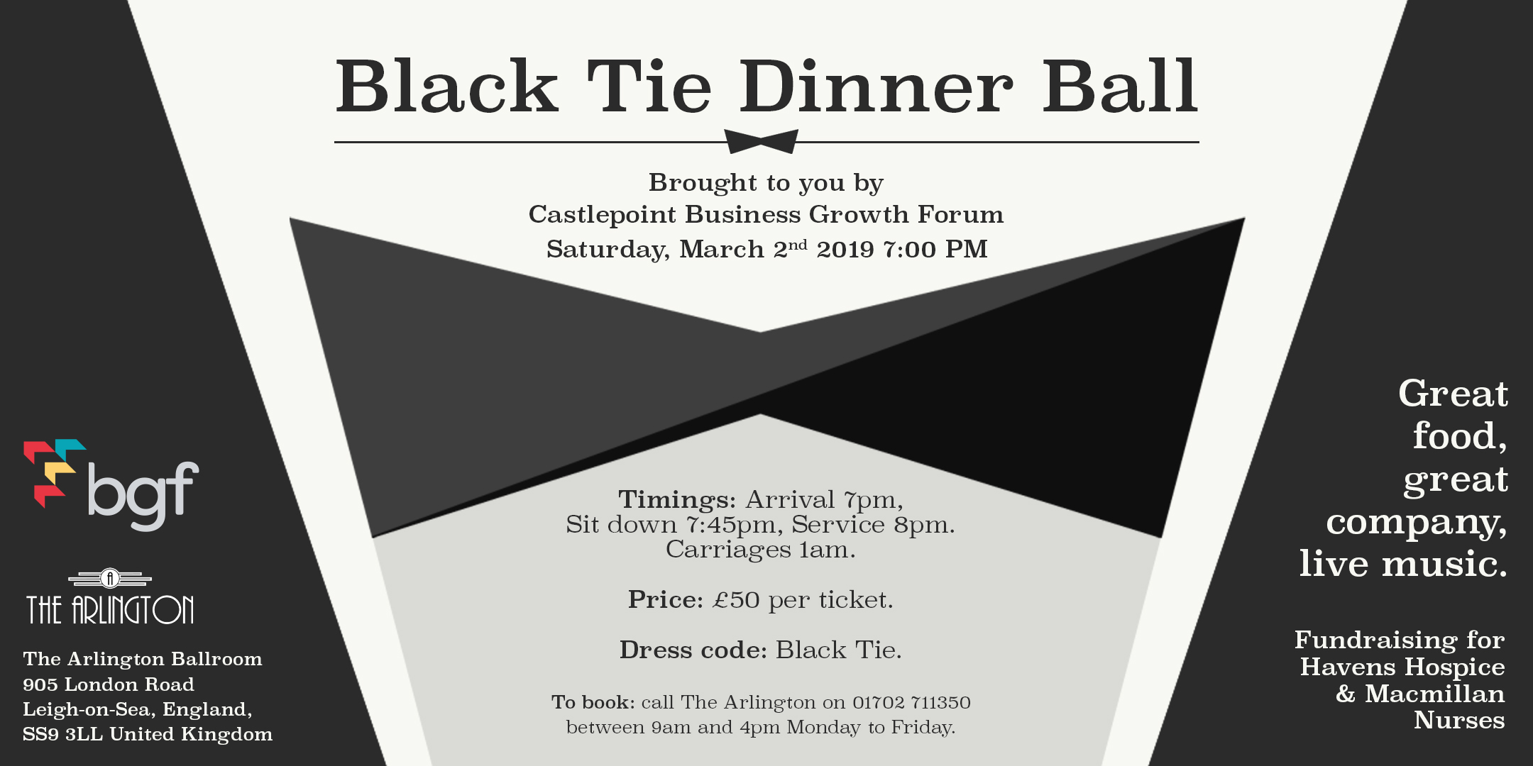 March 2019 Events at The Arlington Ballroom: Charity Balls