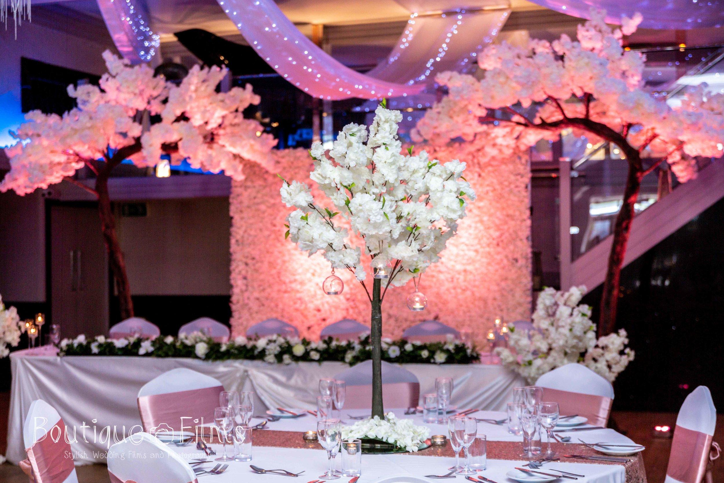 Pink Table Set Up at The Arlington Ballroom, Leigh-on-Sea