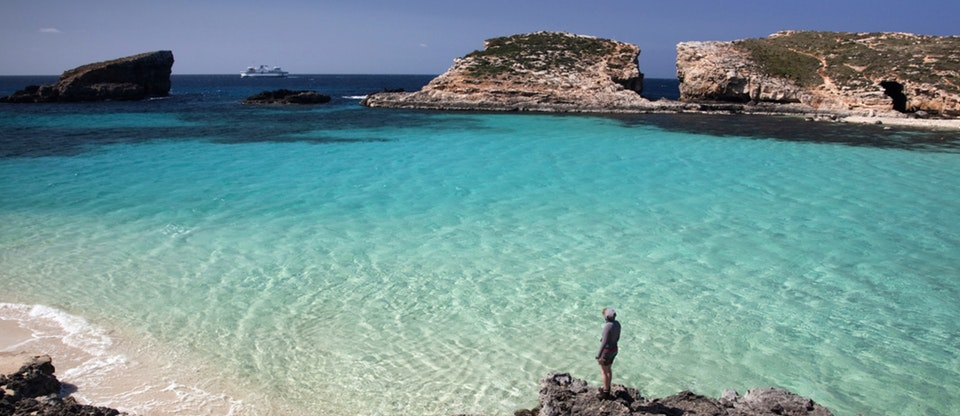 Malta's Blue Lagoon,  from Lonely Planet