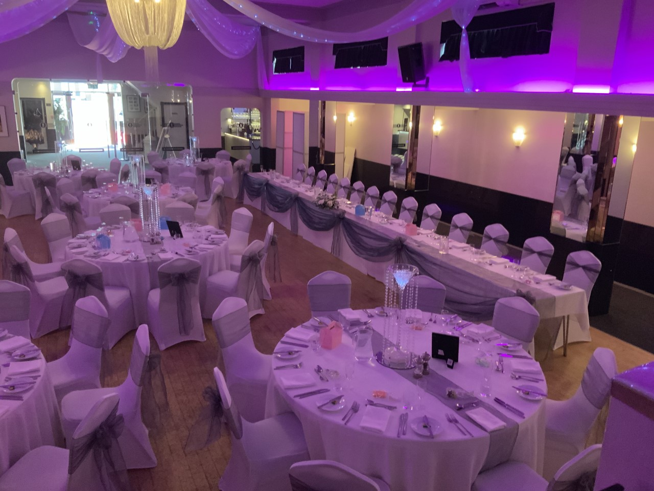 View of Ballroom - Rosie and Daniel - August 2019 - The Arlington Ballroom Essex