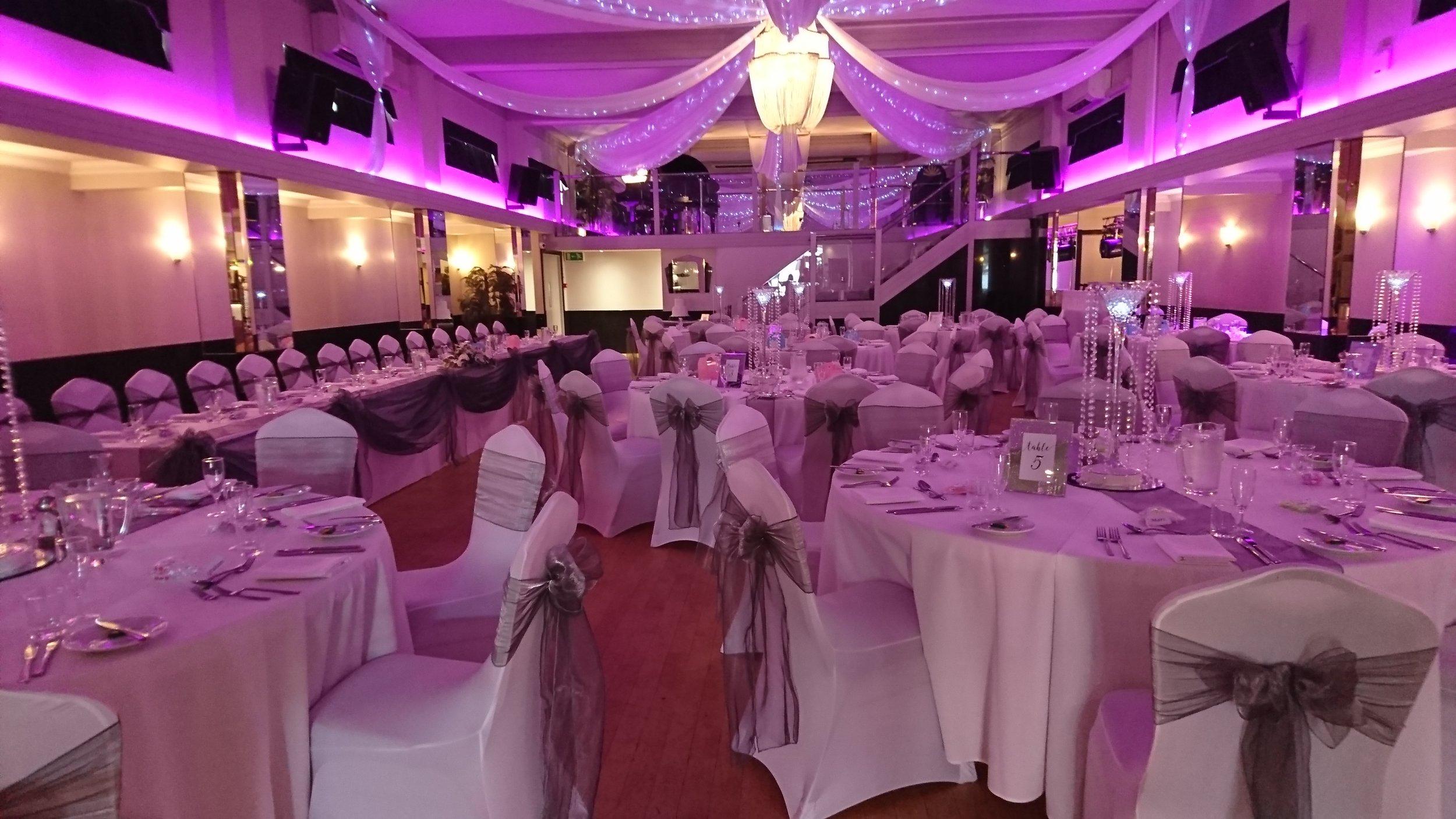 Pink Downlighting, Rosie and Daniel, 24th August 2019 - The Arlington Ballroom Essex