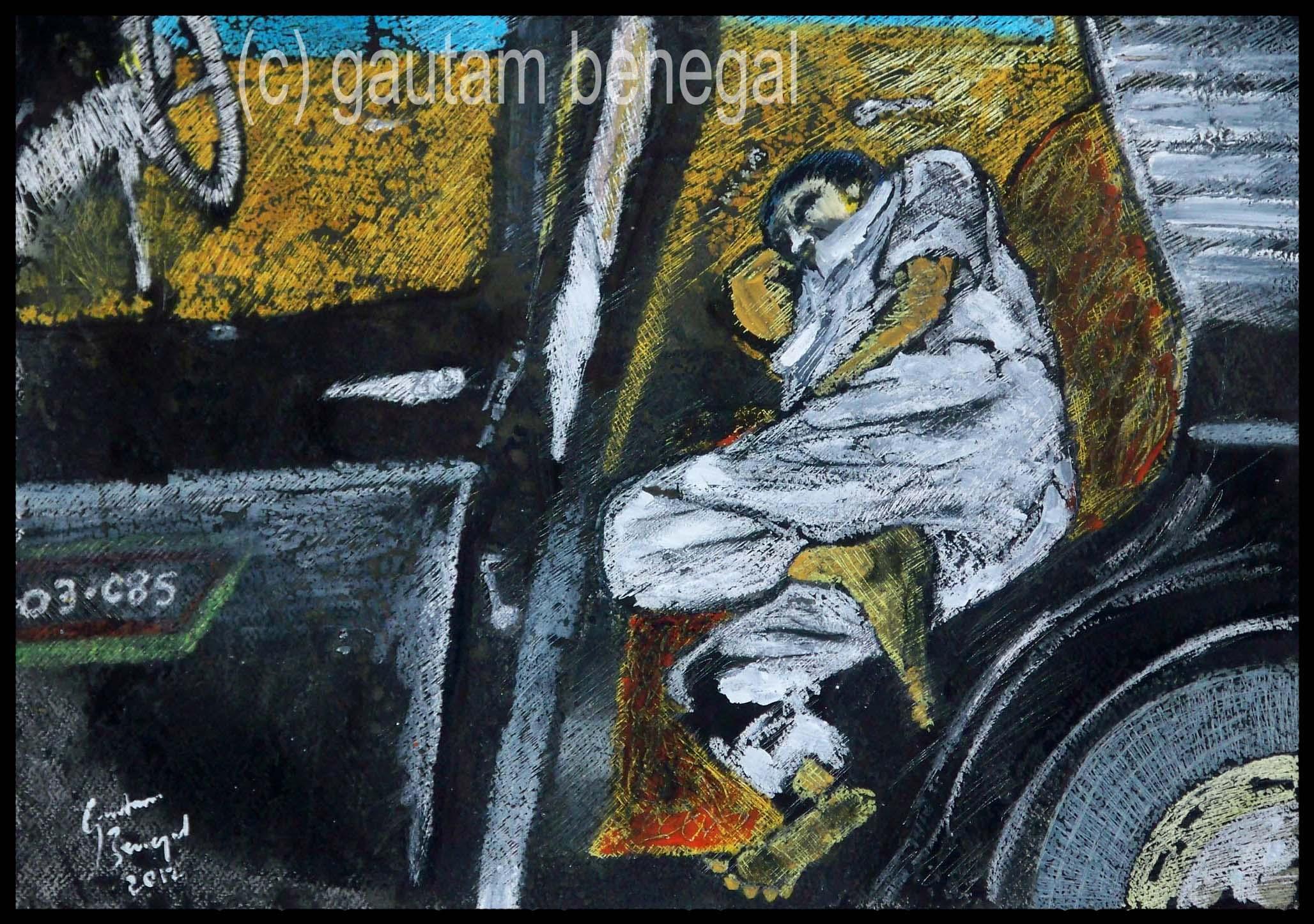 Sleeping Taxi Driver