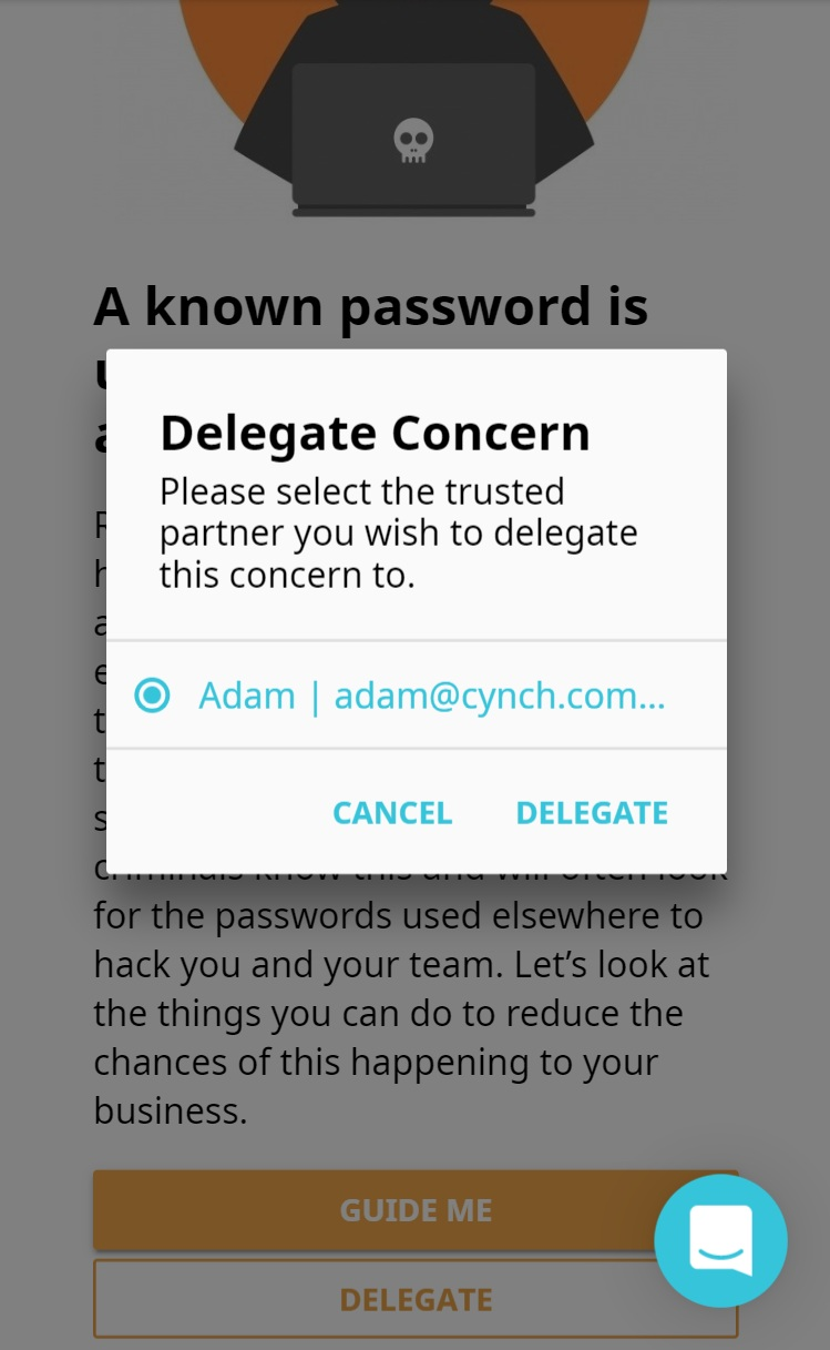 Delegate responsibility for cybersecurity concerns to your trusted partners