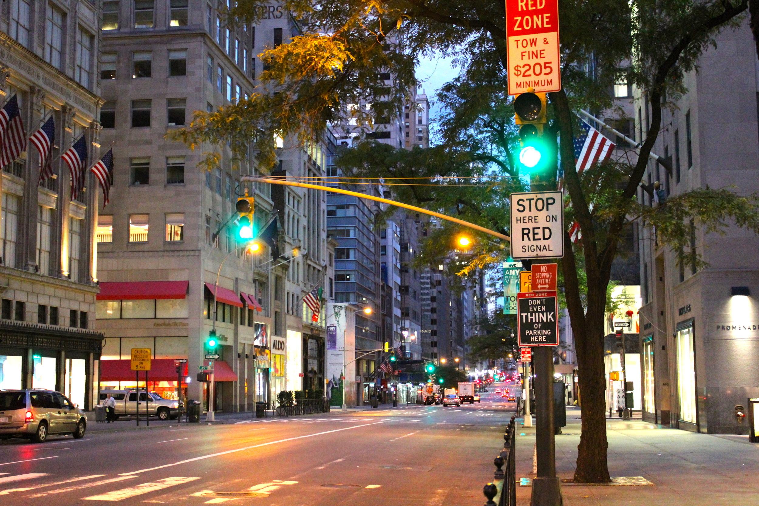 Morning walk in New York - unbezahlbar.