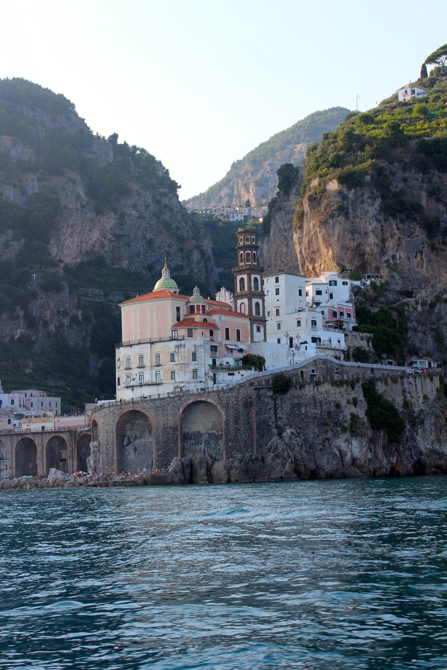 Auf dem Weg von Maiori nach Amalfi