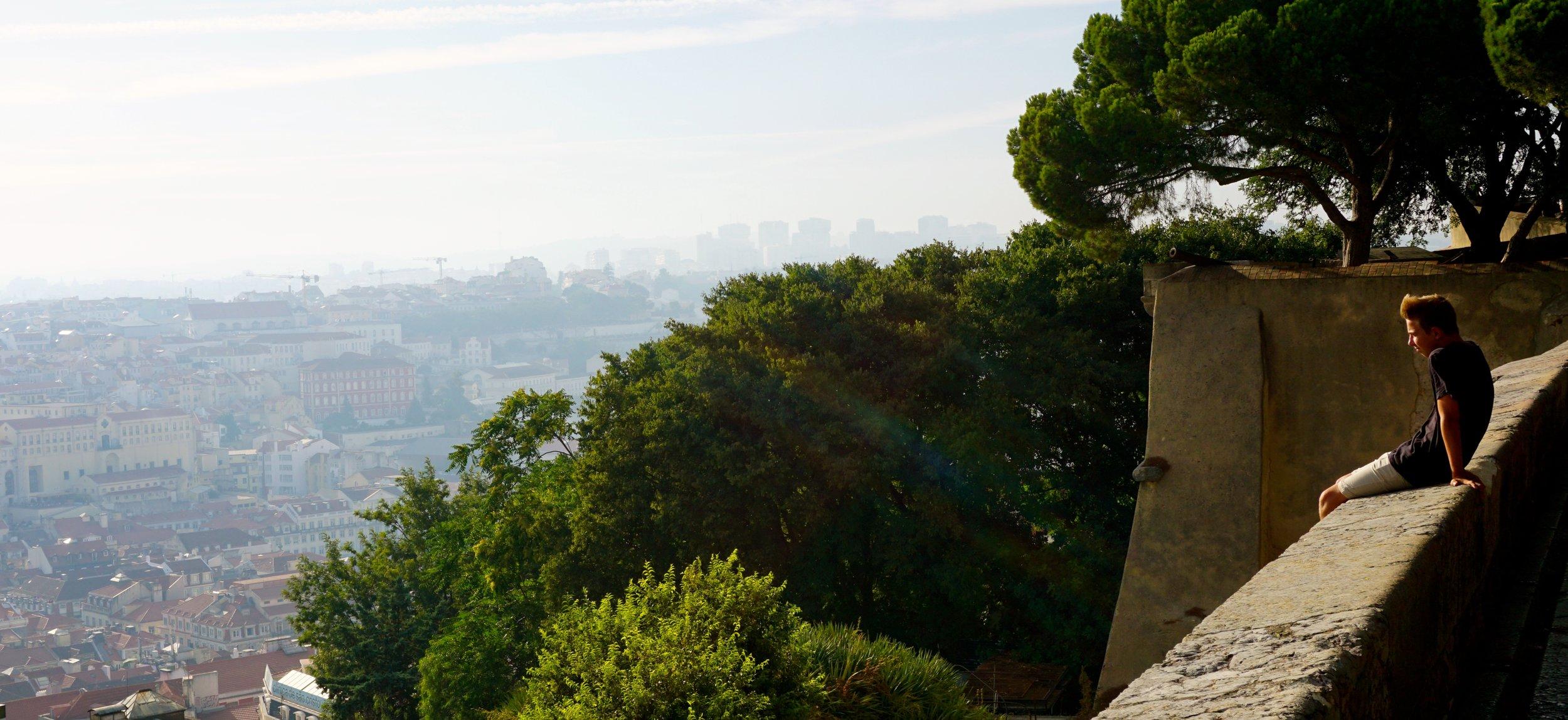 Blick von der Burg  Castelo de São Jorge  auf die Stadt.