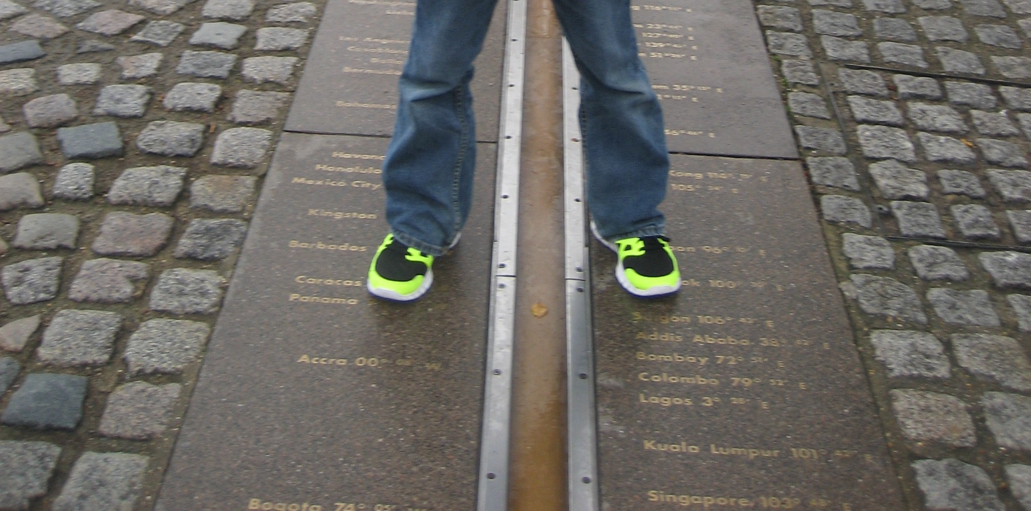 Null-Meridian in Greenwich.