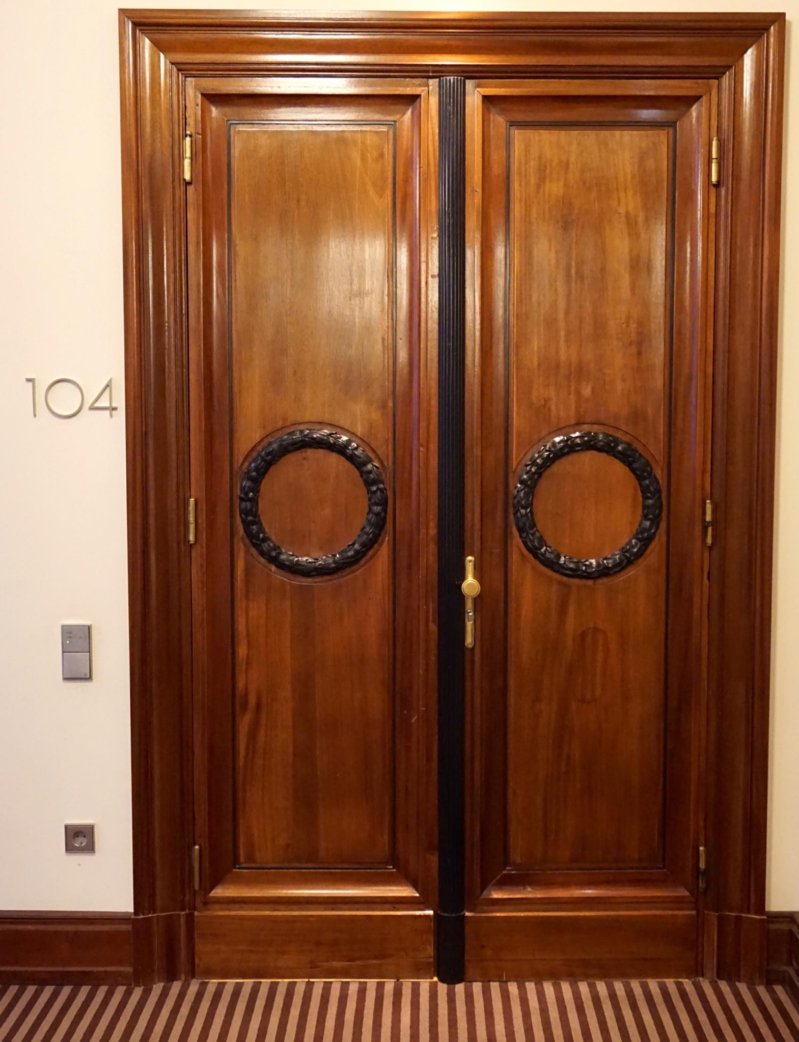 Eingang zu einer der Direktoren Suiten .