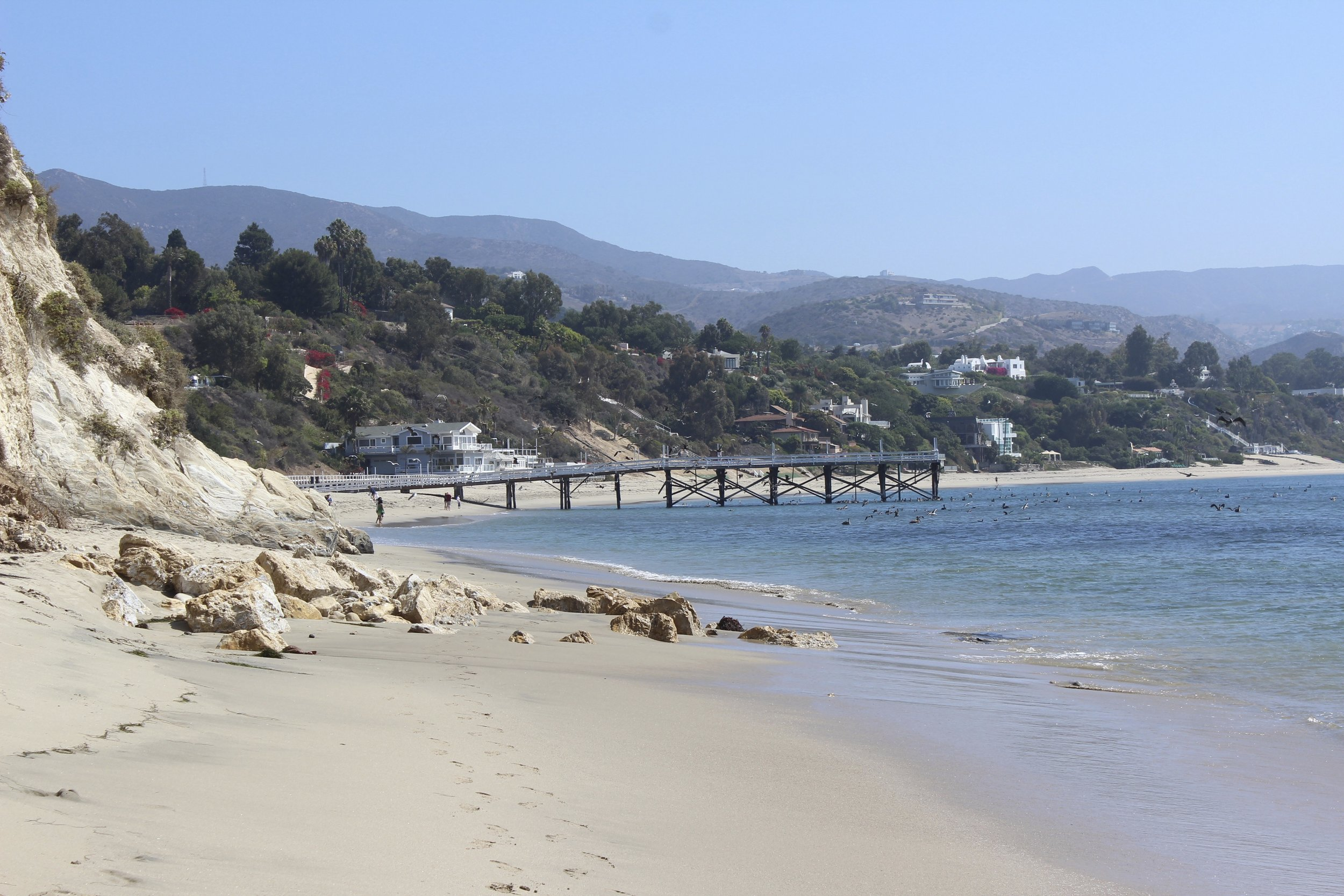 Blick nach links vom Paradise Cove.