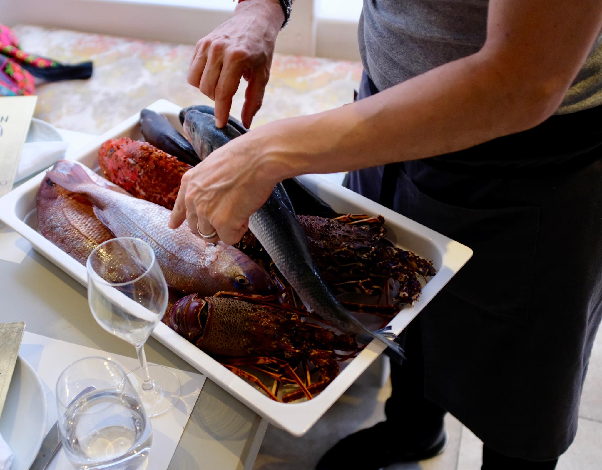 Griechenland Mykonos Fisch Restaurant