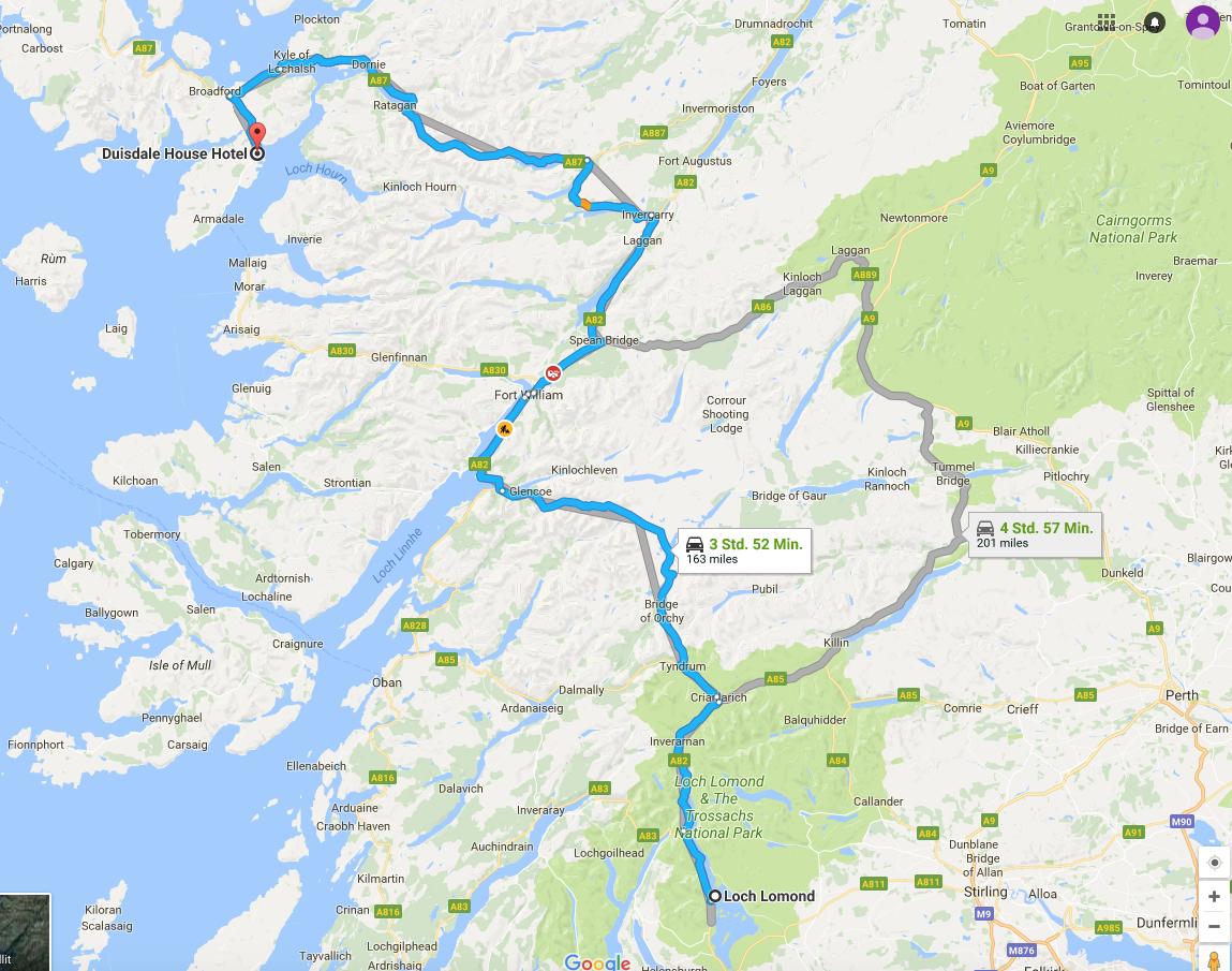 Isle of Skye Schottland Reiseroute