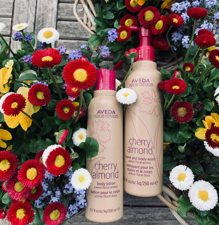 AVEDA Cherry Almond Body Lotion Cherry Almond Hand and Body Wash, BeFifty, Blog für Frauen über 50 und ab 40, Beate Finken, Nachhaltige Kosmetik