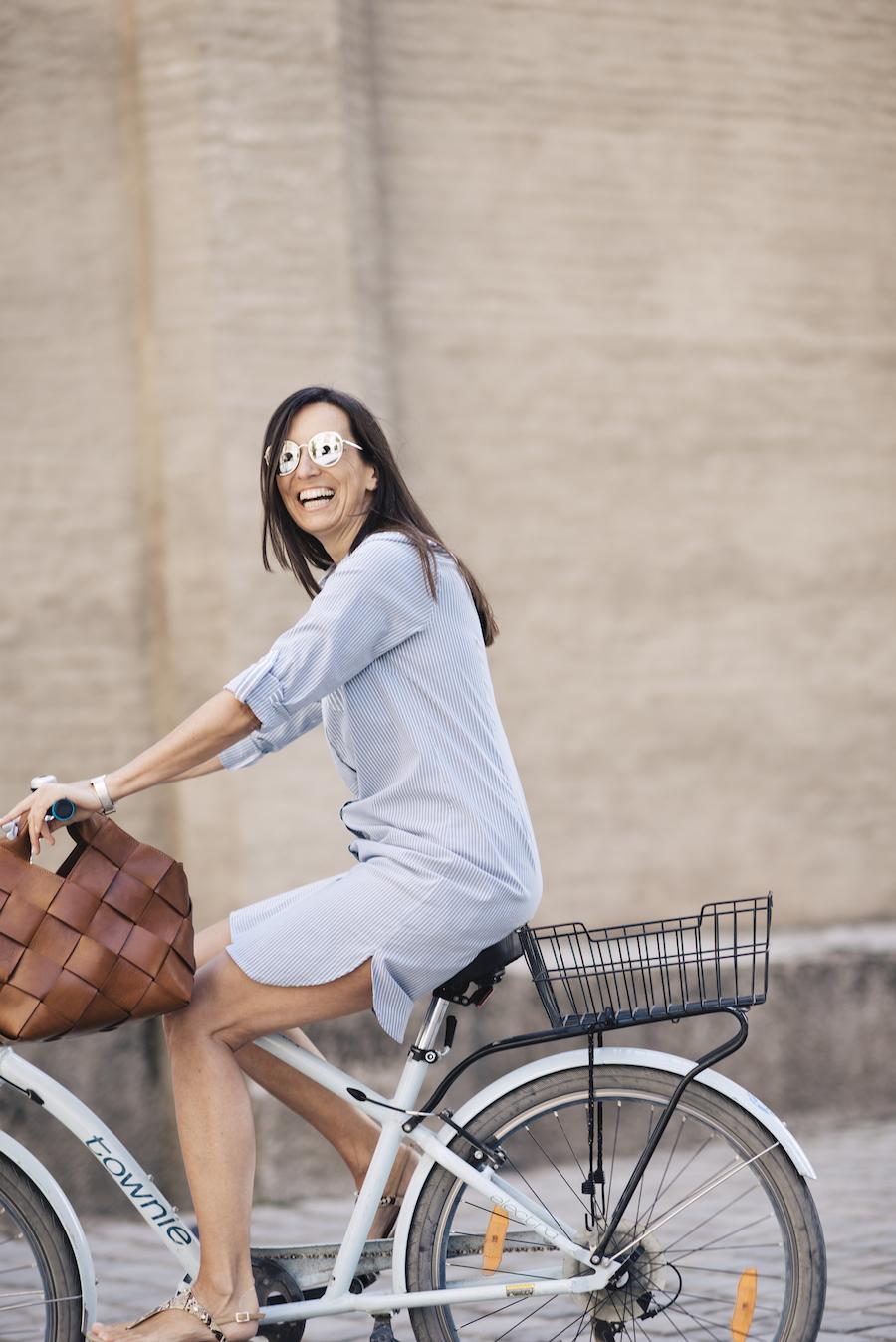 Hemdblusen-Kleid Olsen Fashion Beate Finken Bloggerin bei BeFifty Stylingtipps Sommer und Kleider Blog für Frauen über 40 und ab 50