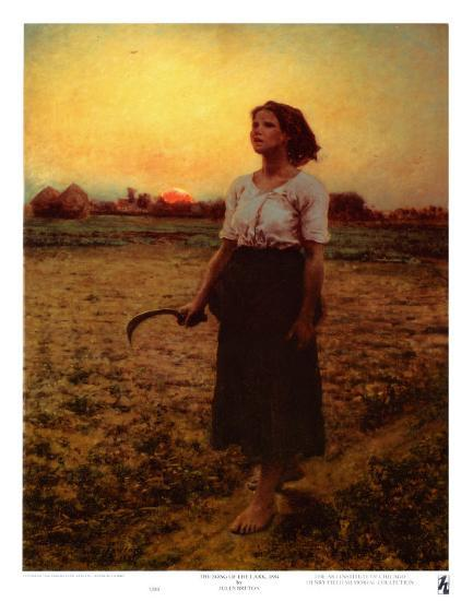 The Song of the Lark by Jules Breton, at the Art Institute of Chicago