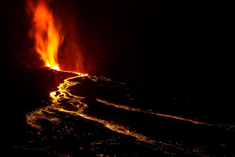 Eruption du Volcan de la Fournaise 2016