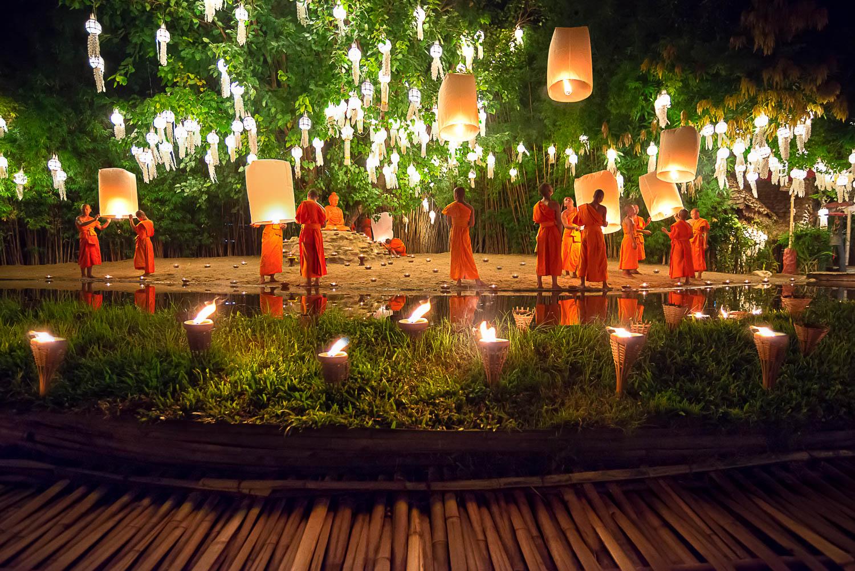 Fête de la Lumière à Chiang Maï