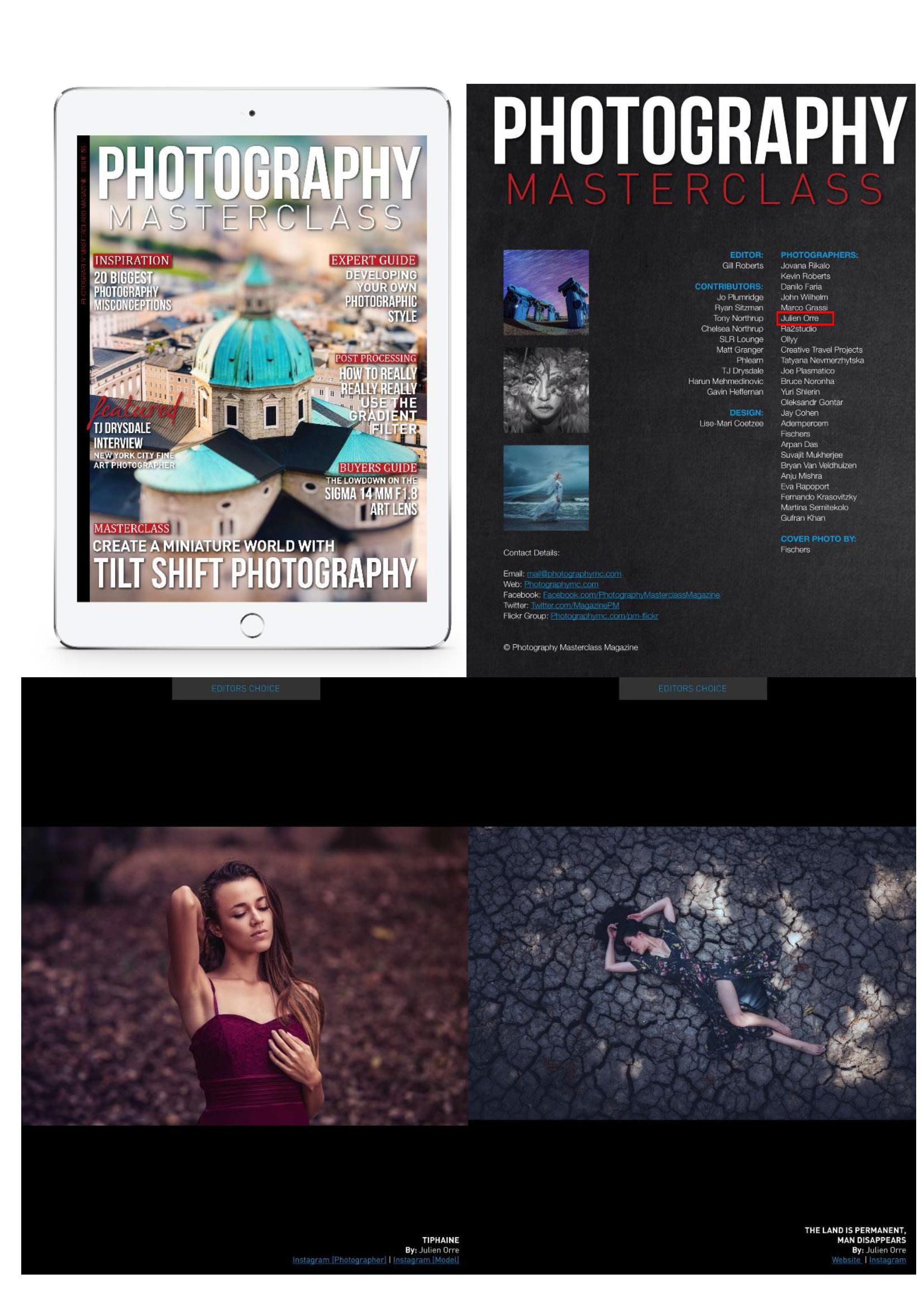 Octobre 2017 - Deux nouvelles publication de mes photos dans le Magazine Américain