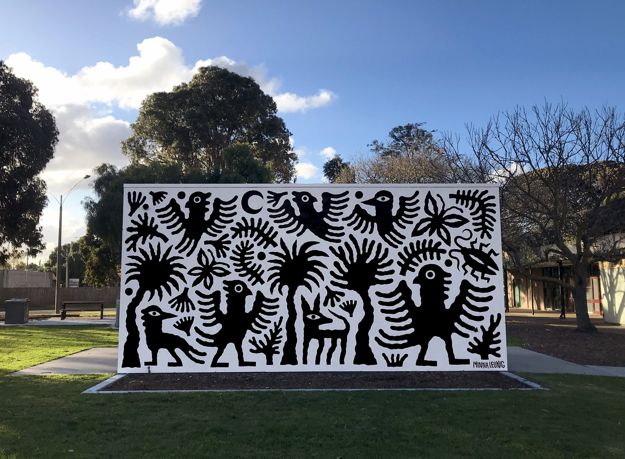 'Movement and Mirth in Kelly Park', Werribee. City of Wyndham commission.