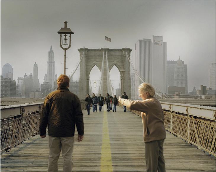 Brooklyn Bridge, New York, 2003 ( Here and There)