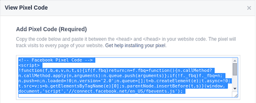 How to install Facebook Pixel code in Singapore