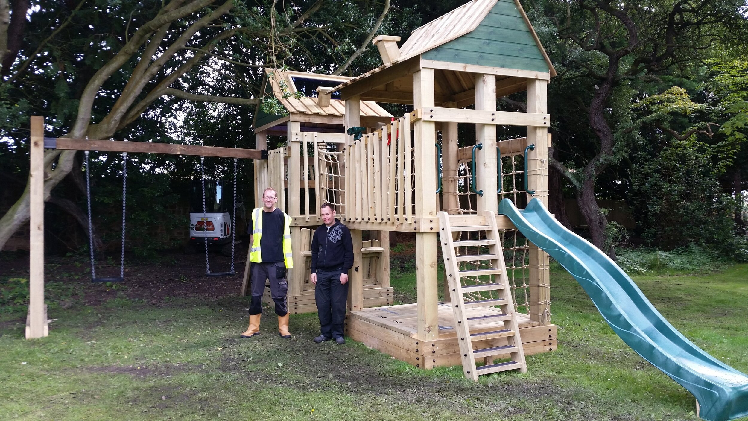 Blyth Star service users with the finished play park.