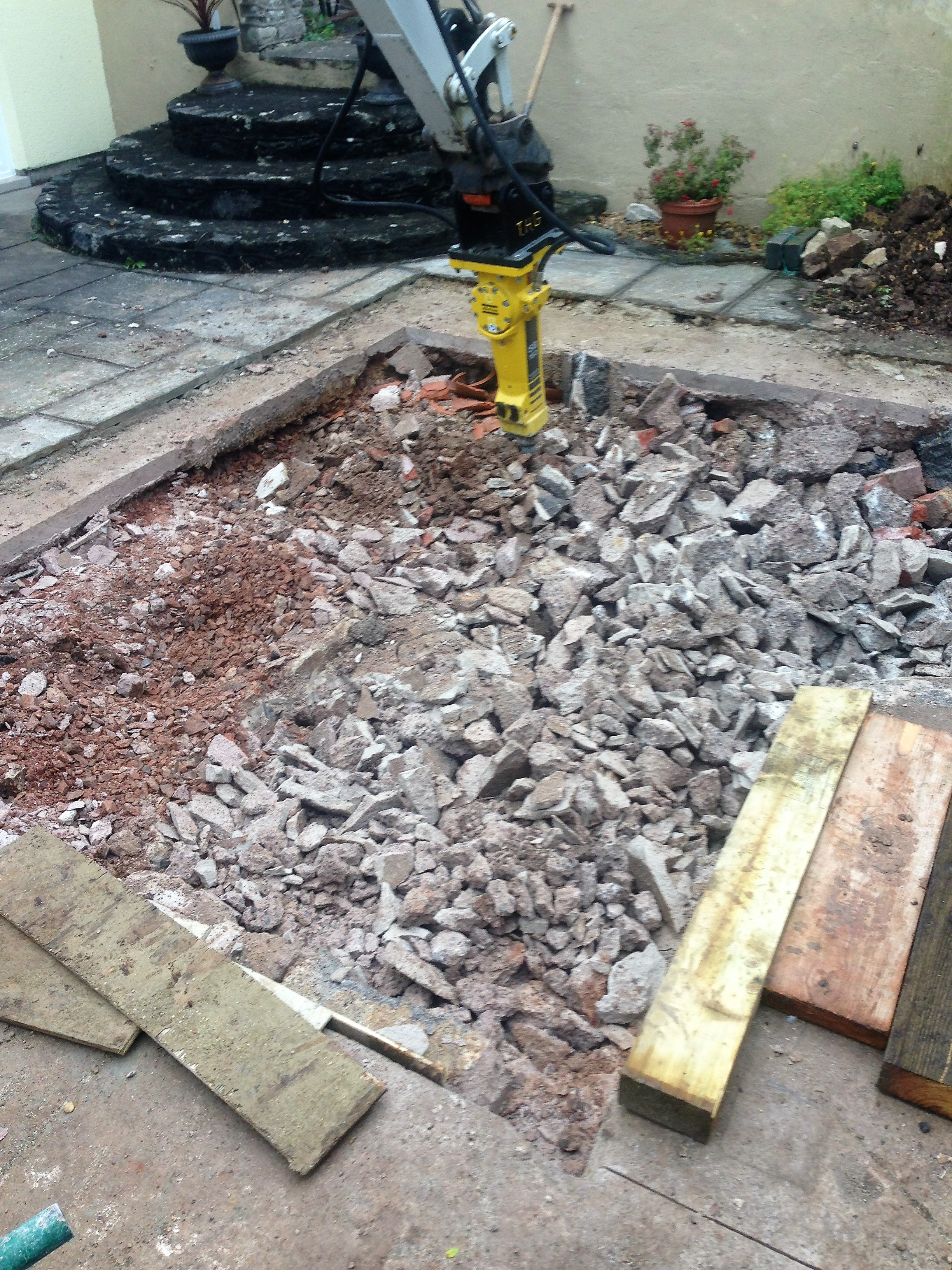 A large amount of concrete!!!