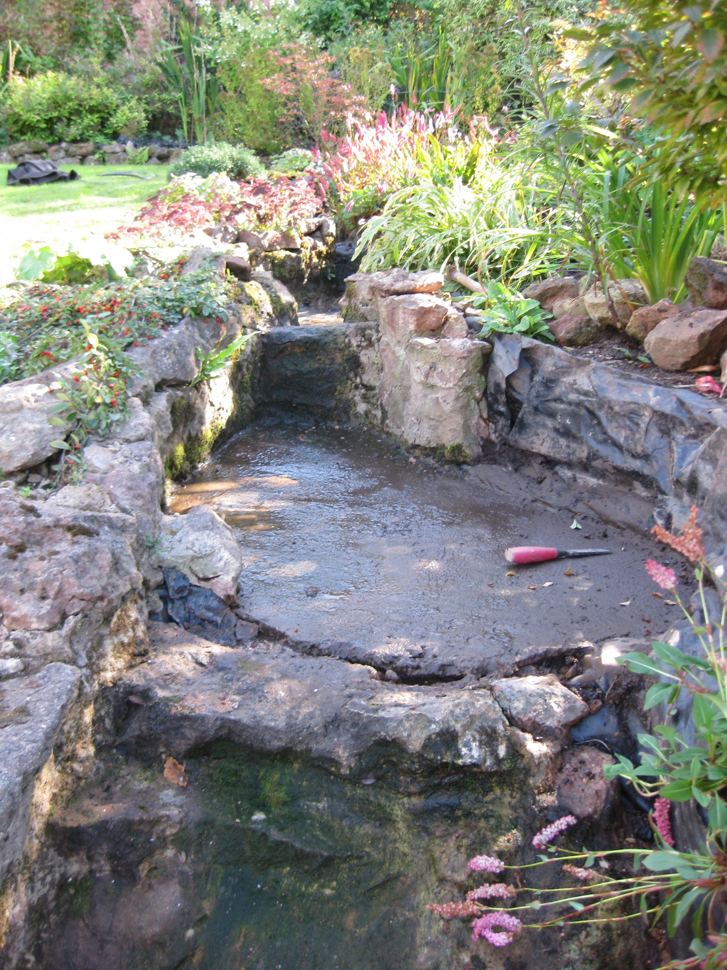 Concrete water feature will eventurally crack and leak!