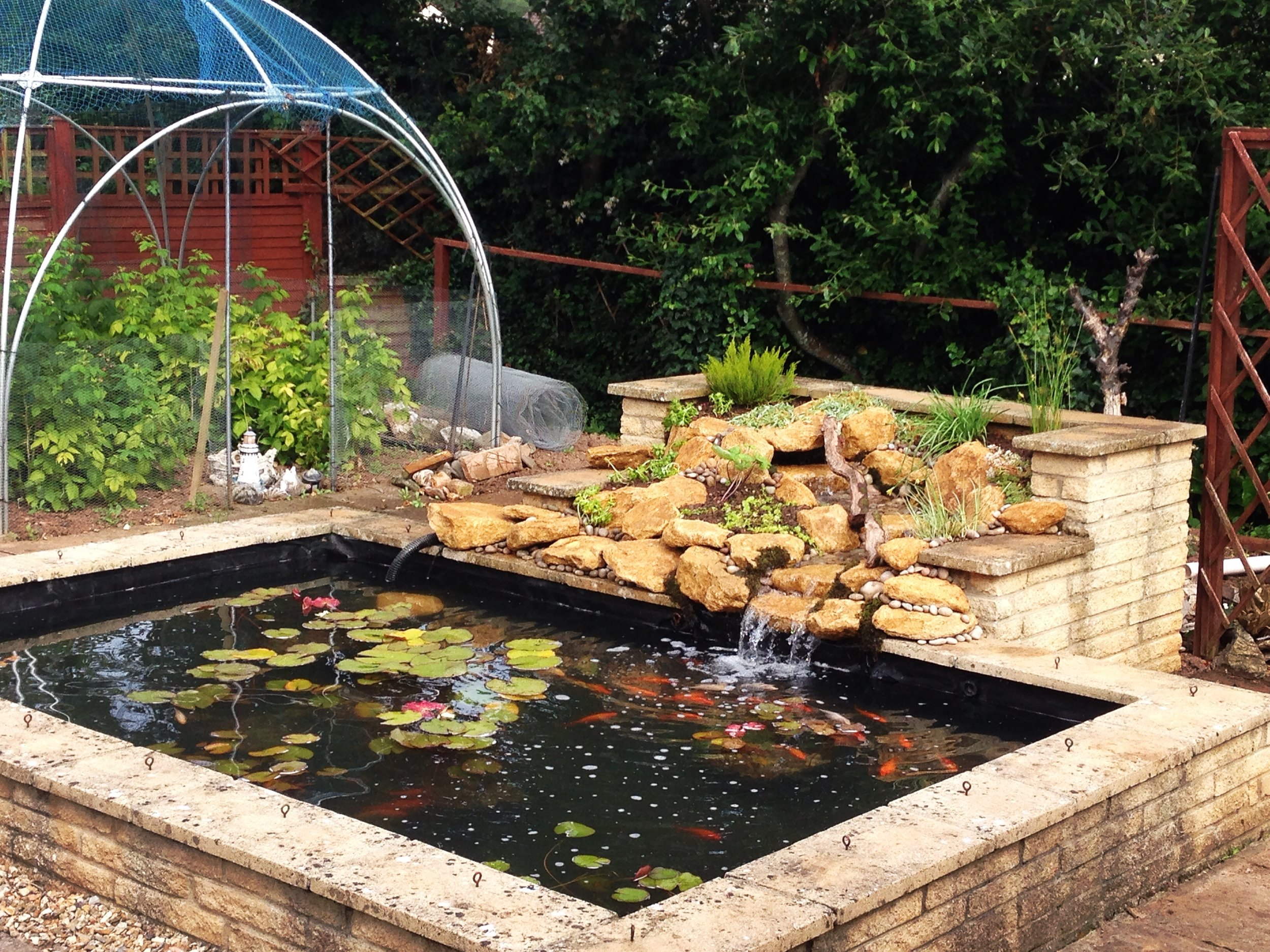 After… - Revamped fish pool with cascading water feature
