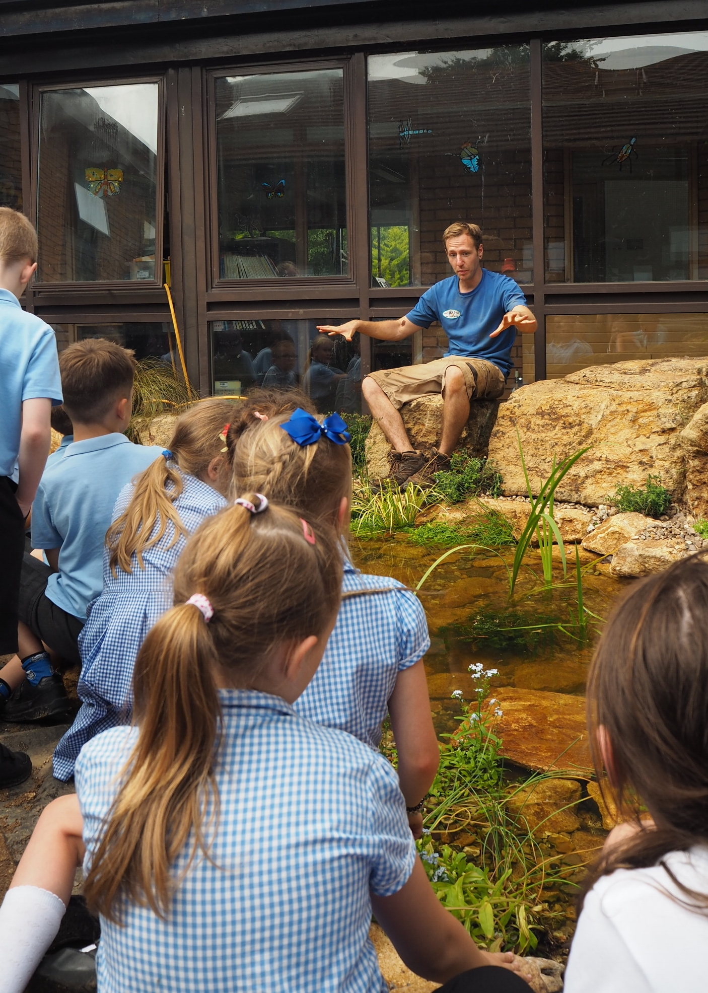Educational ecosystem pond, Taunton, Somerset - Outside ecosystem pond classroom