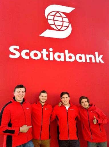 MKTG'S Team from Left to Right: Brett Farrelly, Trevor Hoff, Matthew Smeaton and Jared Blowatt.