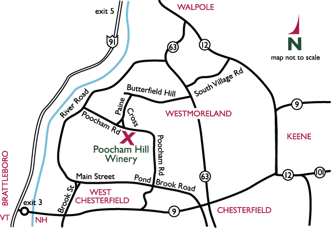 poocham hill winery directions map