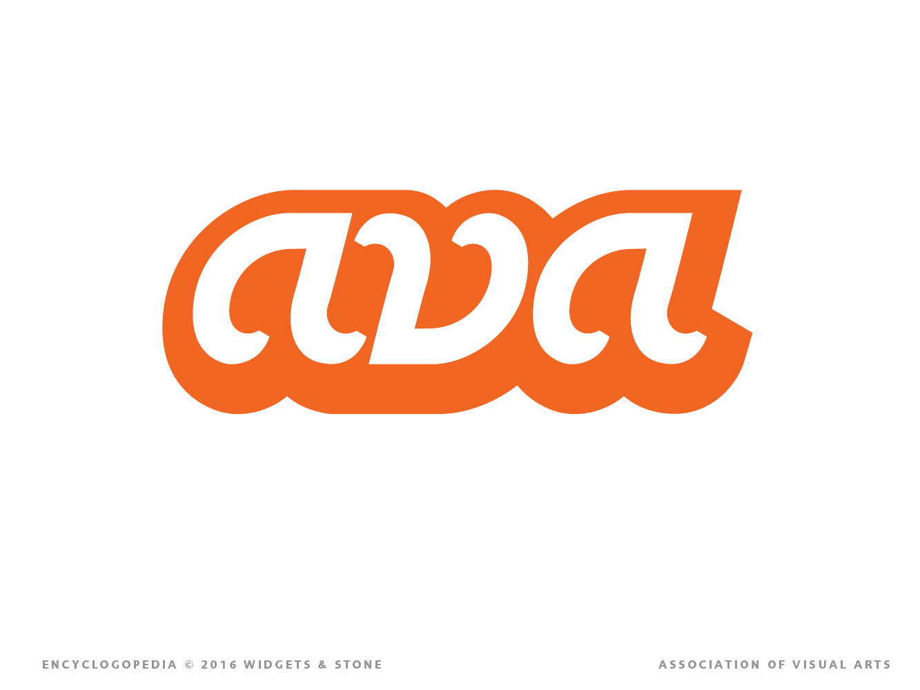 Copy of AVA Association of Visual Arts identity and brand logo strategy