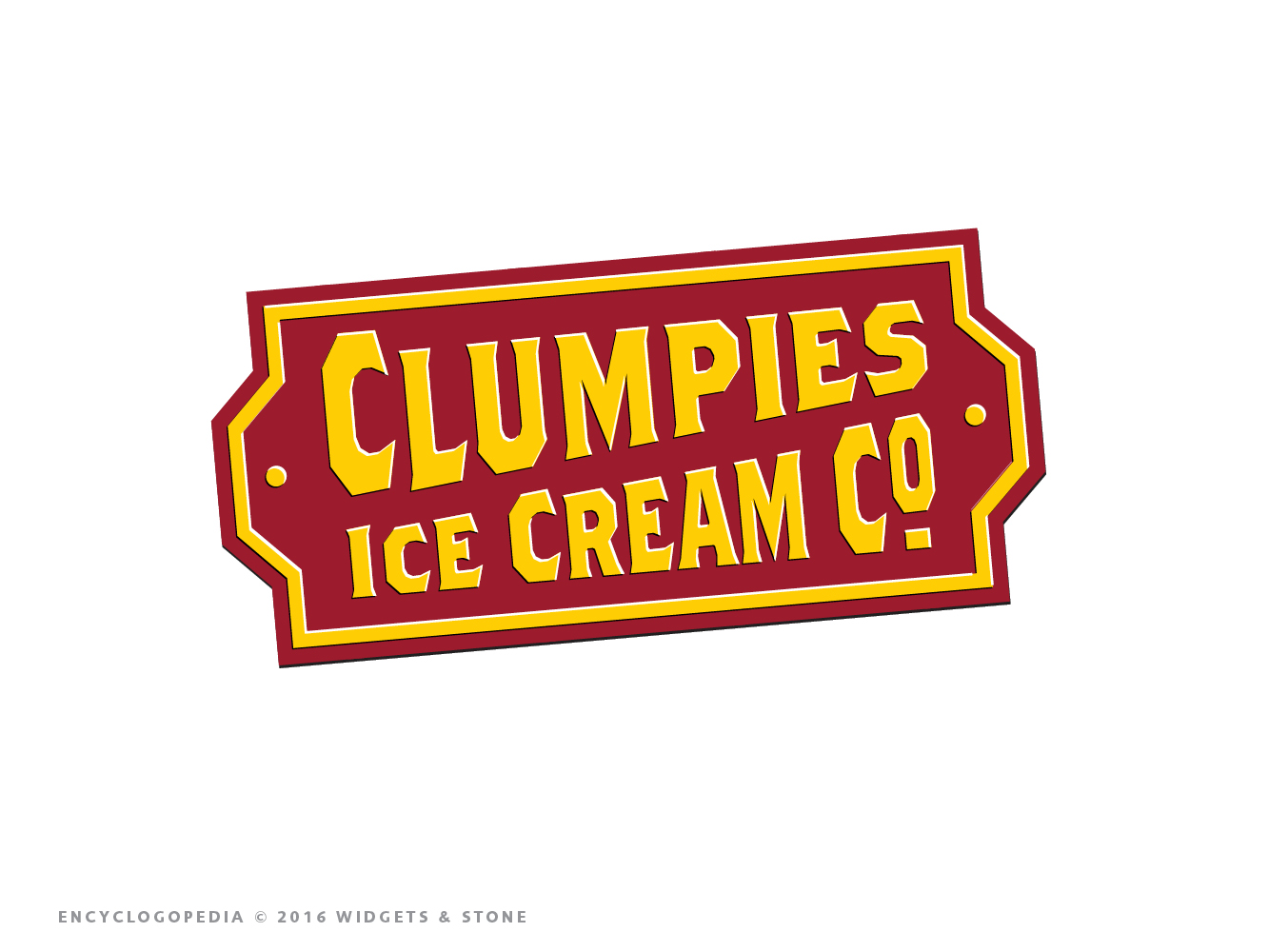 Copy of Chattanooga's Clumpies ice cream logo brand