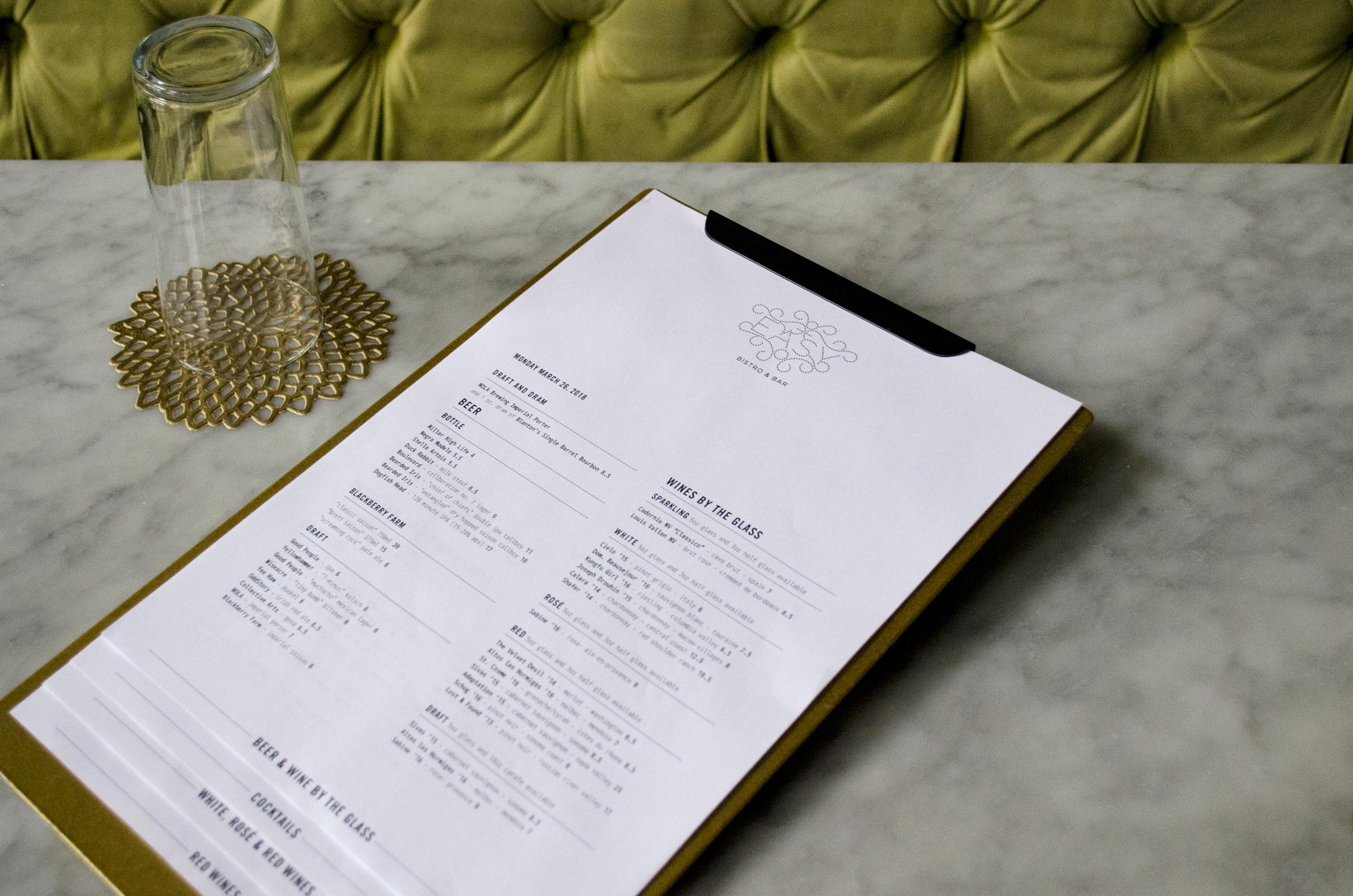 Copy of Easy Bistro & Bar Menu Application