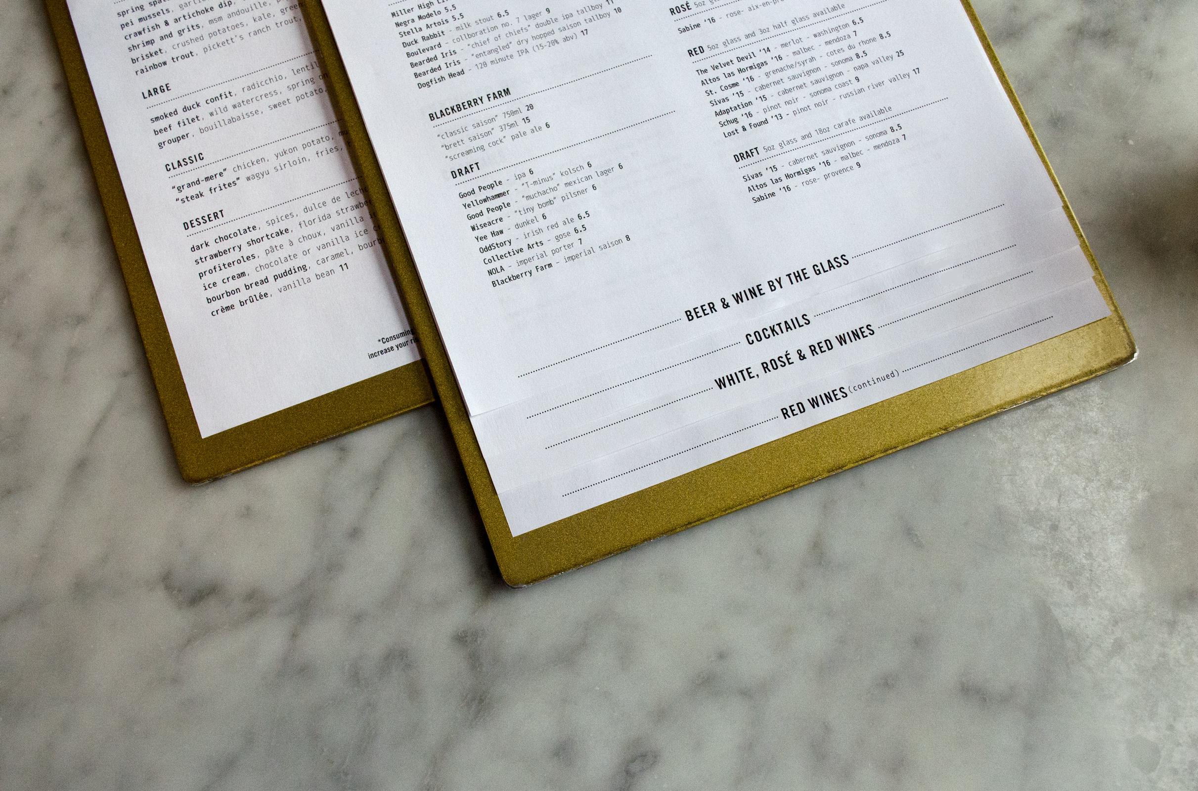 Copy of Easy Bistro Menu Typography Hierarchy