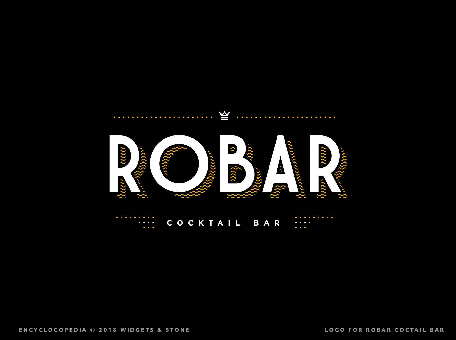 Robar Cocktail Bar Logo Graphic Design