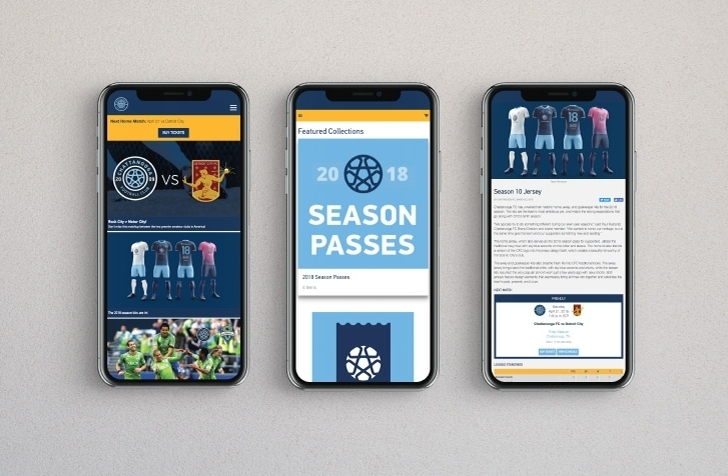 Chattanooga FC website mobile phone