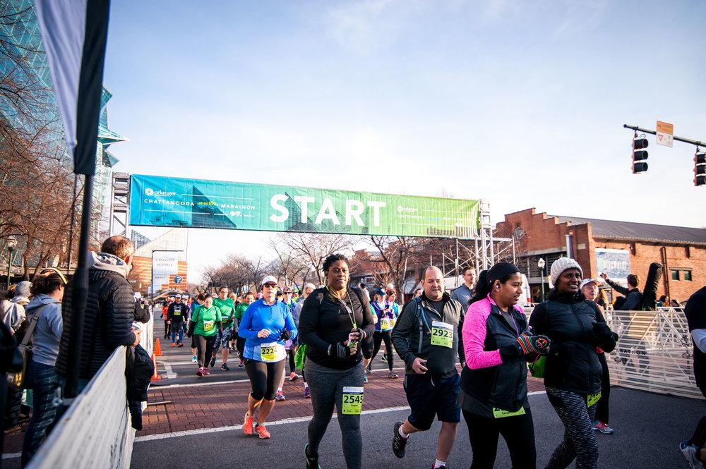 Chattanooga Marathon 2017 Signage Wayfinding Photography Editing