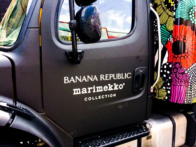Banana Republic Marimekko Collection Truck Logo