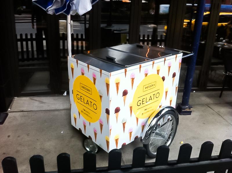 Pop Up Gelato Cart