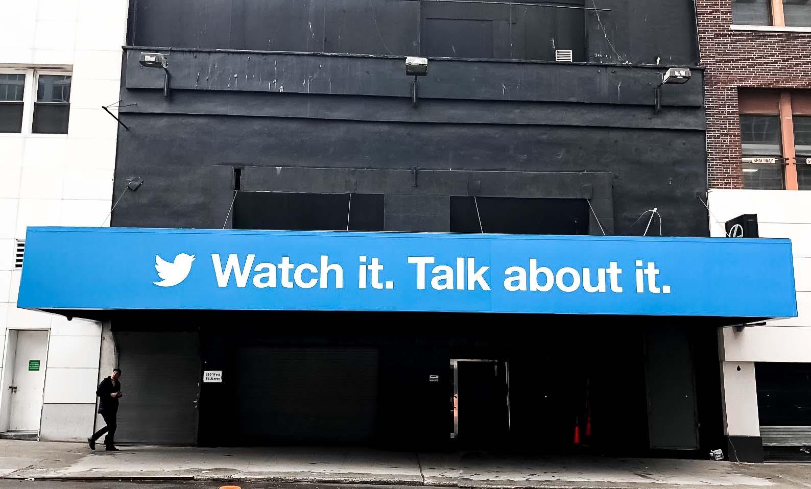 Large Format Twitter Installation