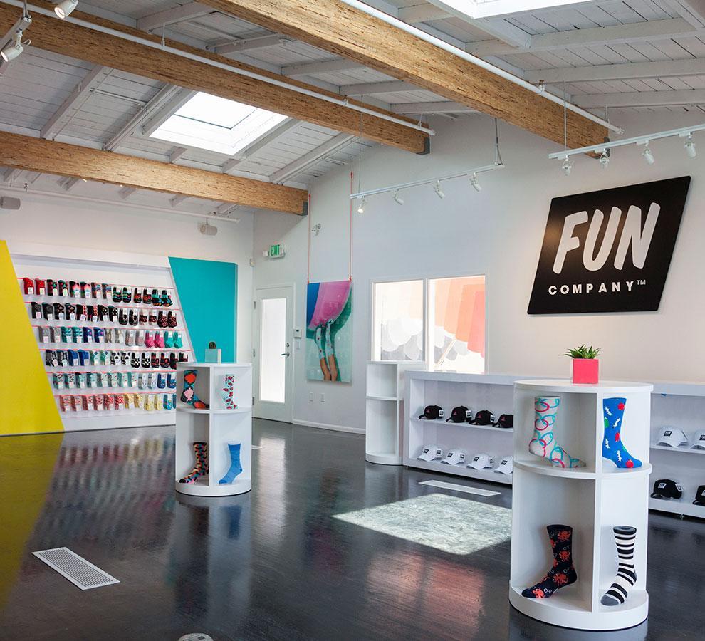 FUN SOCKS  Brand Development / Retail Design / Event Installations / Print Collateral /Production