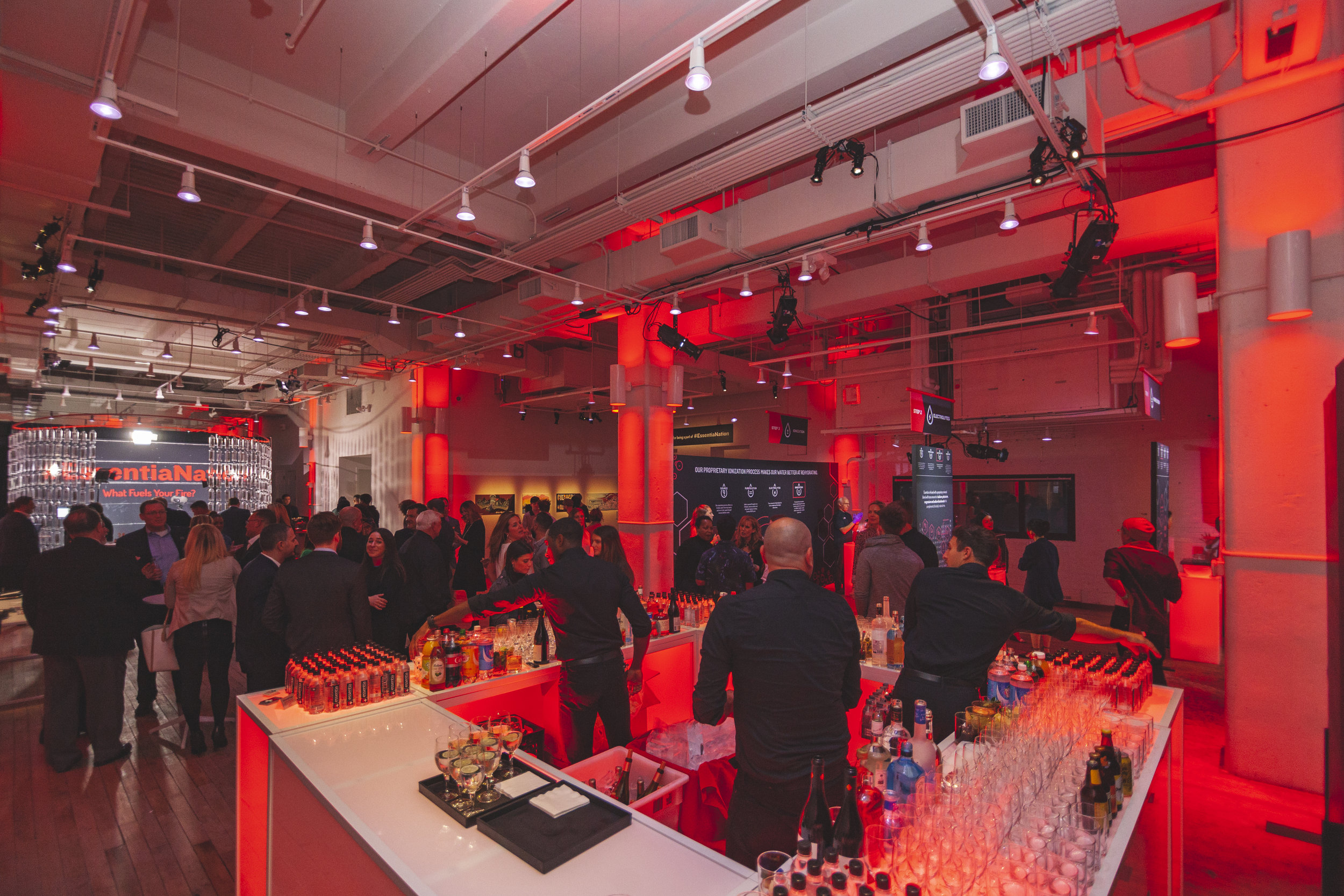 CUSTOM FABRICATION - From a 360° photo booth to a full elevator bar, West Edge above Chelsea Market was fully transformed in just a few hours.