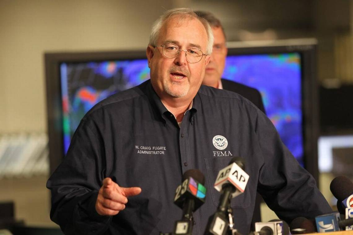 Craig Fugate, administrator of Federal Emergency Management Agency (FEMA), talks at the National Hurricane Center in 2012.   PETER ANDREW BOSCH  MIAMI HERALD STAFF